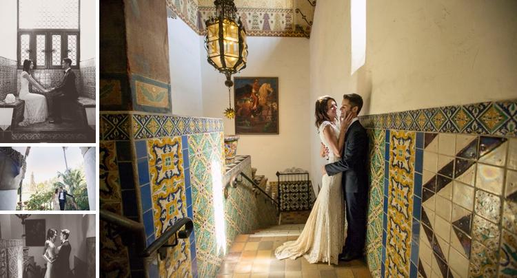 laidback Jewish wedding at the Santa Barbara Courthouse, and The Lark, Santa Barbara, California