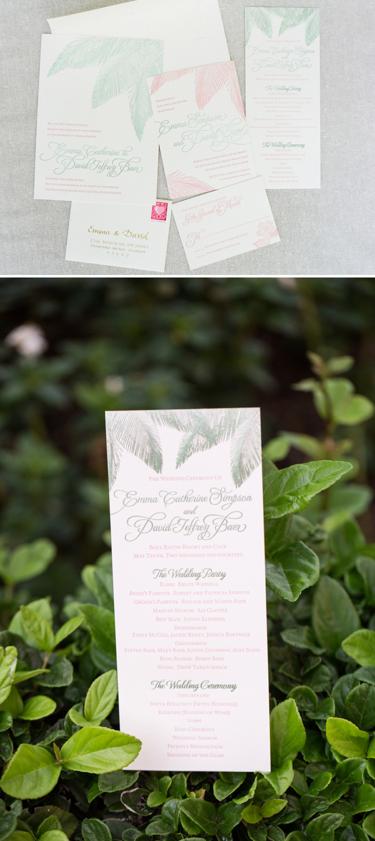 Elegant garden Jewish wedding