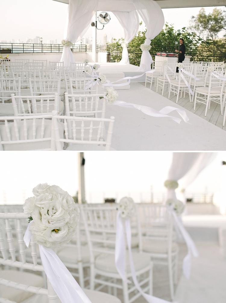 Israeli 'white wedding' at Beit Andromeda, Jaffa, Tel Aviv, Israel