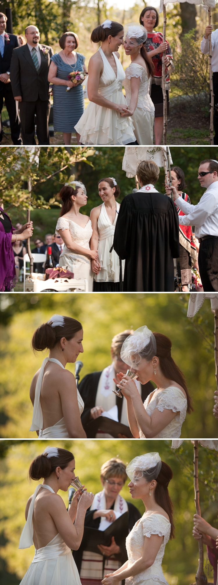 Lesbian Jewish Wedding at The Old Manse, Concord