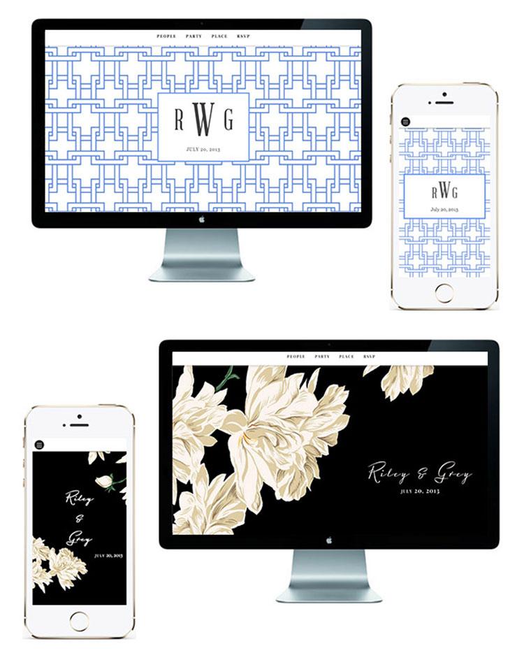 Riley Grey wedding website