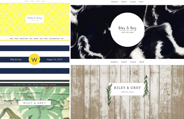 Riley Grey wedding website