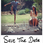 The ultimate 'Smashing The Glass' Save The Date design!