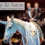 Danny & Aaron | Extraordinary Gay Jewish Wedding, with the Couple Arriving on a Unicorn, at Paramount Studios, Hollywood, Los Angeles, USA