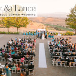 Abby & Lance | Orange and blue Jewish wedding at The Ranch Golf Club, San Jose, California