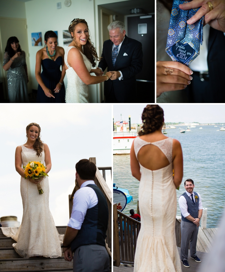 nautical themed Jewish wedding at Annapolis Marriott Waterfront_0004