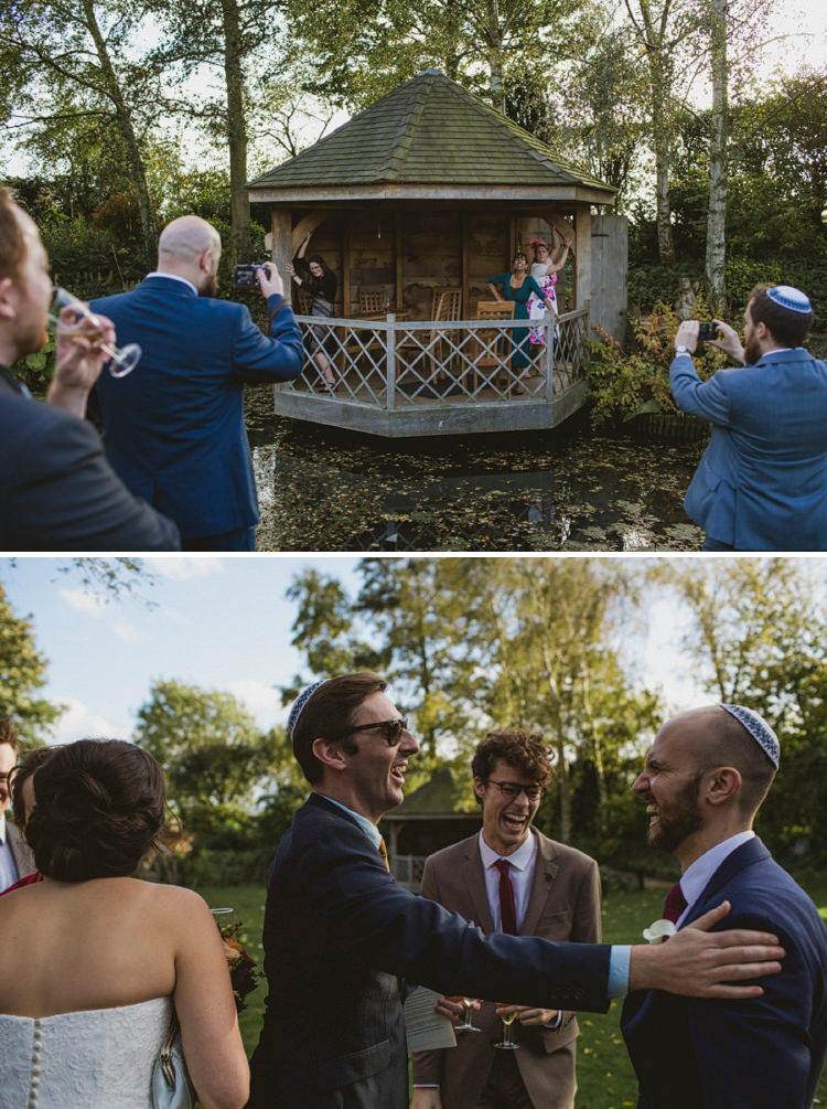 Jewish wedding on a farmhouse