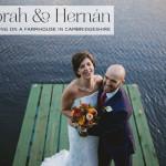 Deborah & Hernà¡n   'Intimate & international' Jewish wedding on a farmhouse at South Farm, Cambridgeshire, UK