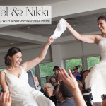 Rachel & Nikki | Jewish lesbian wedding with a nature-inspired theme, at Temple Emanuel in Kensington, Maryland, USA