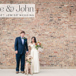 Jamie & John | Garden loft Jewish wedding with an amazing suspended floral chuppah at Open Secret Studios, Illinois, Chicago, USA