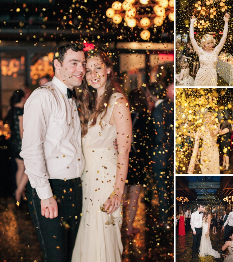 gold confetti wedding
