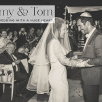 Tammy & Tom | An Inbal Dror dress for a wedding by the sea, with a very special story, at Kochav HaYam, Caesarea, Israel