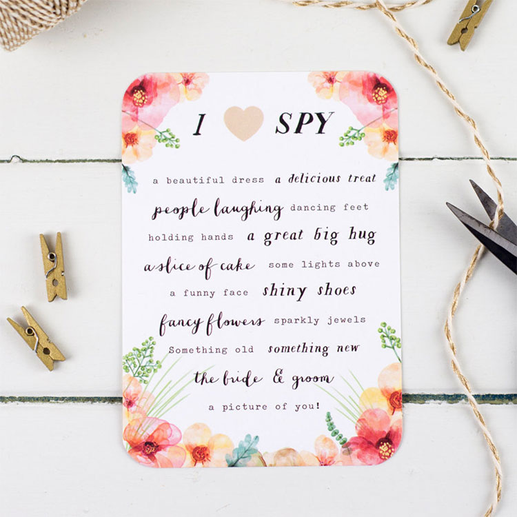 I-Spy-Wedding-Game