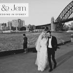 A Rue de Seine bride for a Jewish Wedding under the Sydney Harbour Bridge and Simmer on the Bay, Dawes Point, Australia