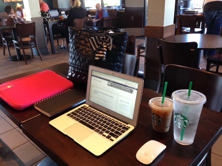Blogger Workspace Starbucks