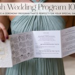 Jewish wedding program 101: How to create a ceremony program that's perfect for your special day