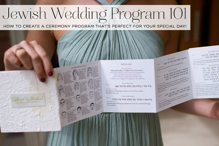 jewish wedding program 101 how to create a ceremony program that s