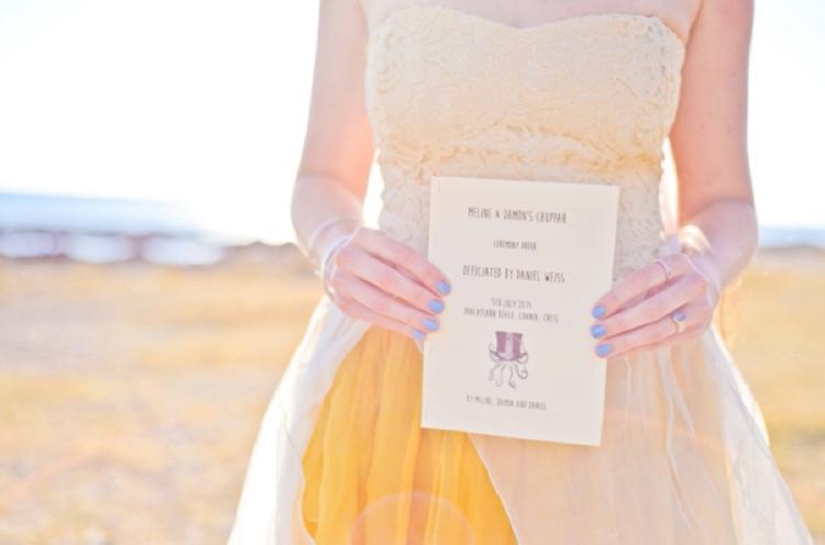 Jewish wedding program
