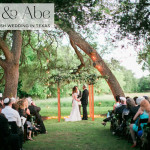 Julie & Abe | Outdoor Jewish wedding, with a vintage botanical theme, at Vineyards at Chappel Lodge, Austin, Texas, USA