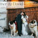 A Mira Zwillinger bride for a snowy ski-themed Jewish wedding in the mountains of Verbier, Switzerland