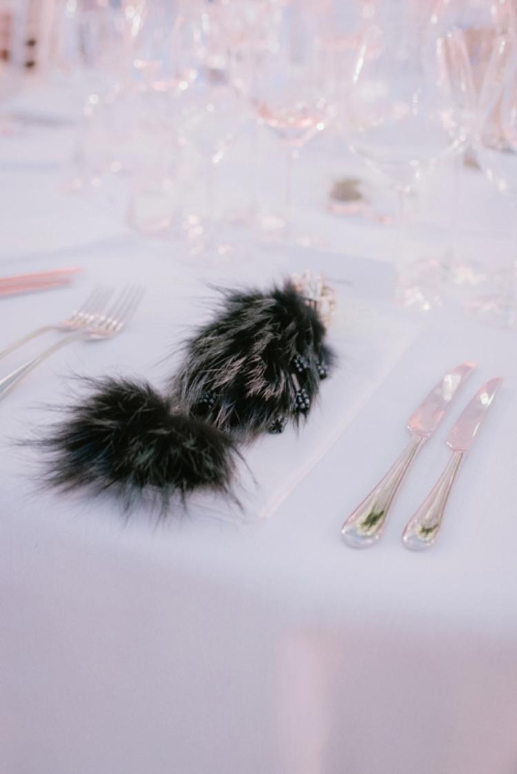 fur wedding favours