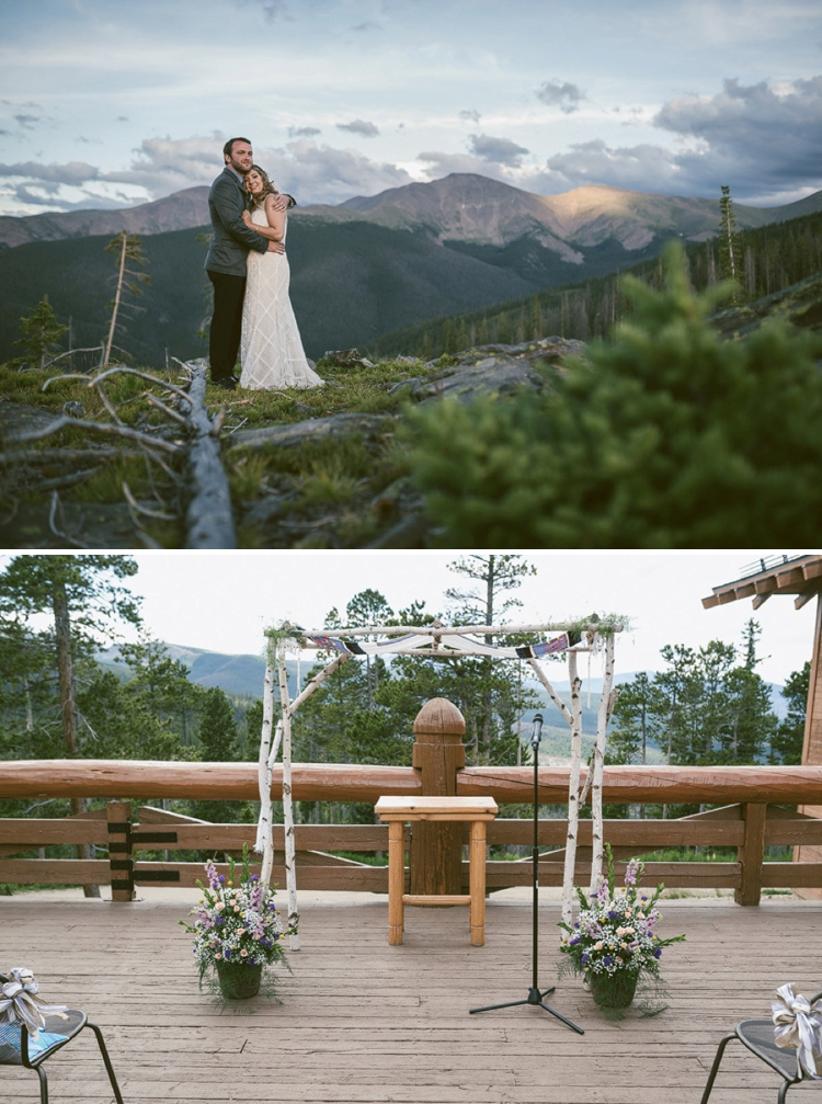 Colorado mountain Jewish wedding