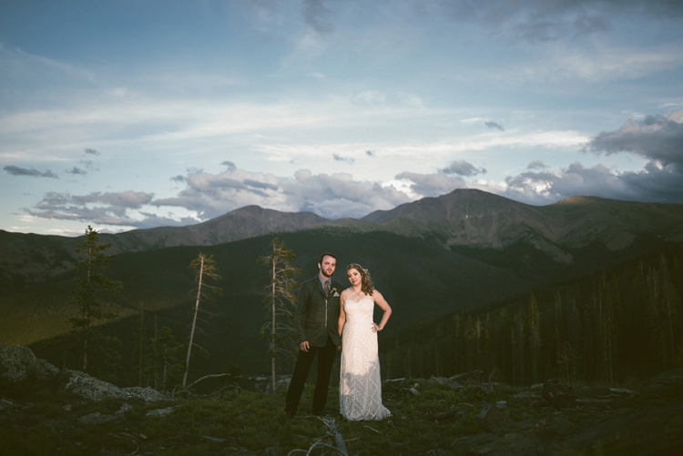 Colorado mountain Jewish wedding