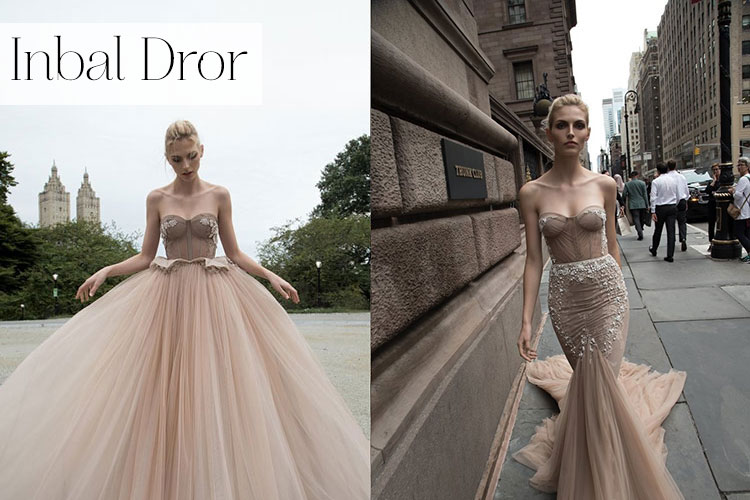 The rise of israeli wedding dress designers smashing the for Israeli wedding dress designer inbal dror