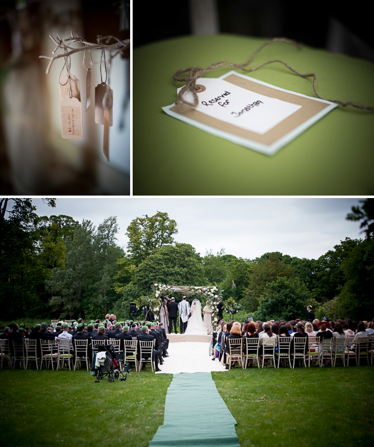Woodland-style rustic Jewish wedding at Luton Hoo