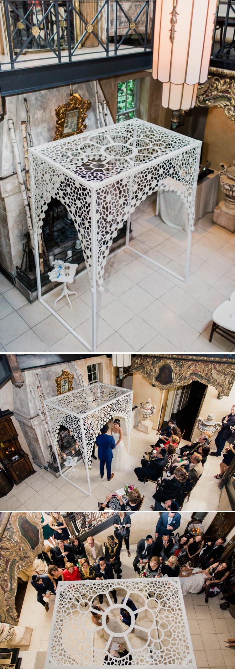 Jewish wedding at 632 on Hudson West Village New York