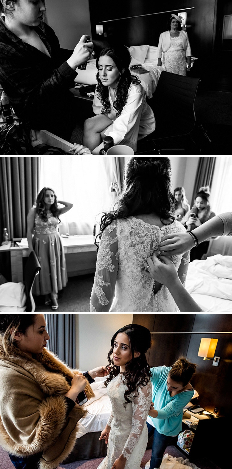 A Justin Alexander Bride for a Jewish wedding at Andaz London Liverpool Street
