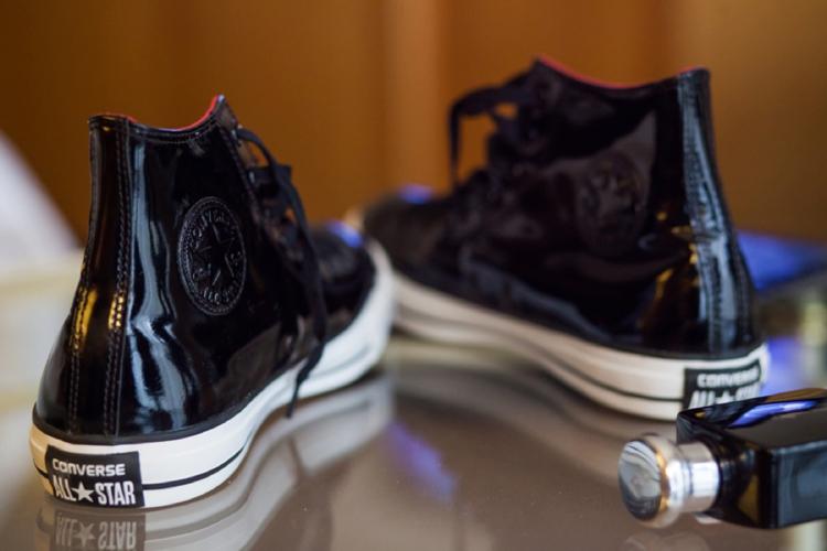 Black patent Converse