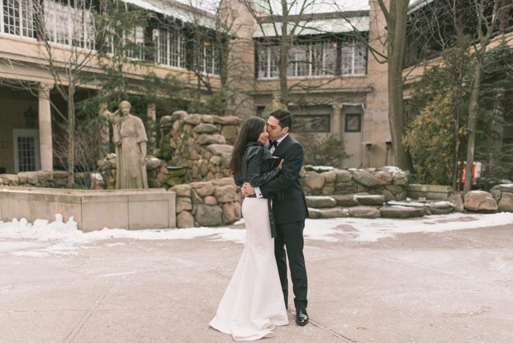 A Valentine's Day Jewish Wedding in the snow