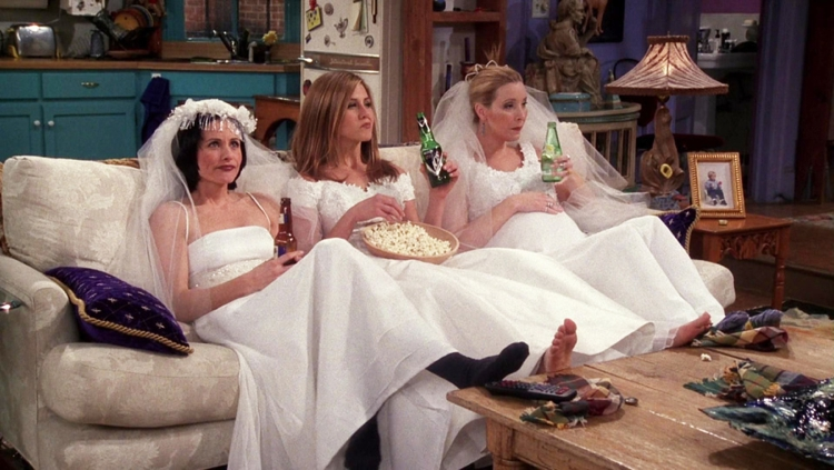 Friends episode wedding dress