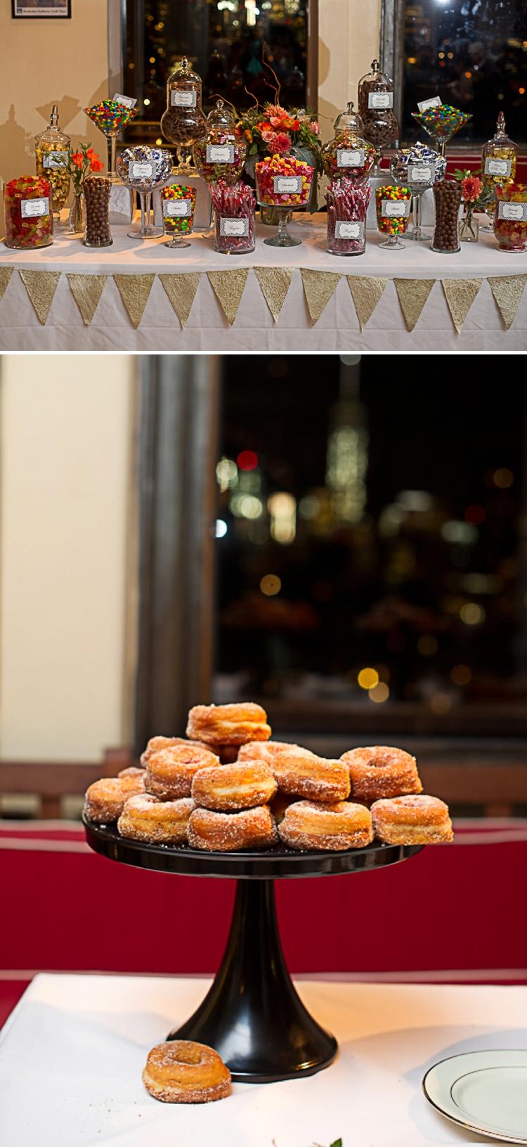 doughnuts candy buffet