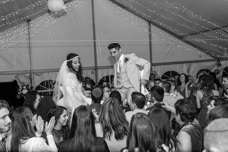 A chilled out backyard Jewish wedding at the bride's