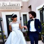 Yukie & Jason's Moroccan-themed destination wedding, with three designer dresses, at Caesar Yam, Caesarea, Israel