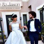 Yukie & Jason's Moroccan-themed destination wedding, with three designer dresses, at Al Ha Yam, Caesarea, Israel