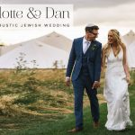 A fun festival Masorti Jewish wedding with a bride in an Alice Temperley dress at South Farm, Hertfordshire, UK