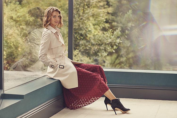 Karen-Millen-Burgundy-ruffle-midi-dress