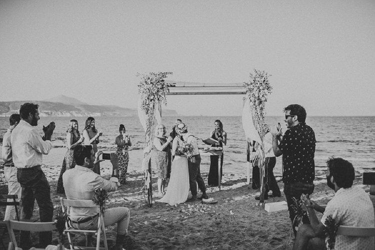 Destination Jewish Greek wedding on the beach in Crete_0041