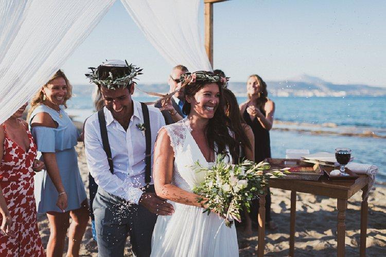 Destination Jewish Greek wedding on the beach in Crete_0046