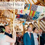 Jewish rustic barn wedding with a Fairy Gothmother Dress and fresh wildflowers at Colville Hall, Essex, UK