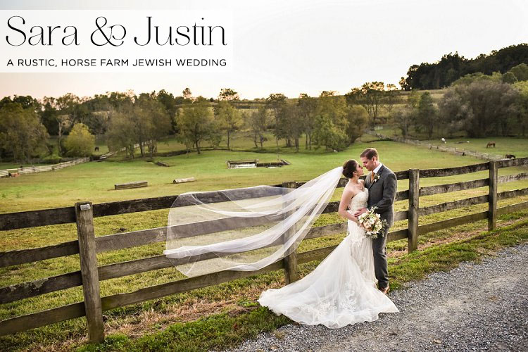 A-rustic,-horse-farm-Jewish-wedding-with-an-Enzoani-bride-at-The-Stables-at-Fox-Crossing,-Cochranville,-Pennsylvania,-USA