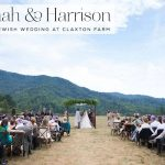 A magical, lush outdoor Jewish wedding at Claxton Farm, Weaverville, North Carolina, USA