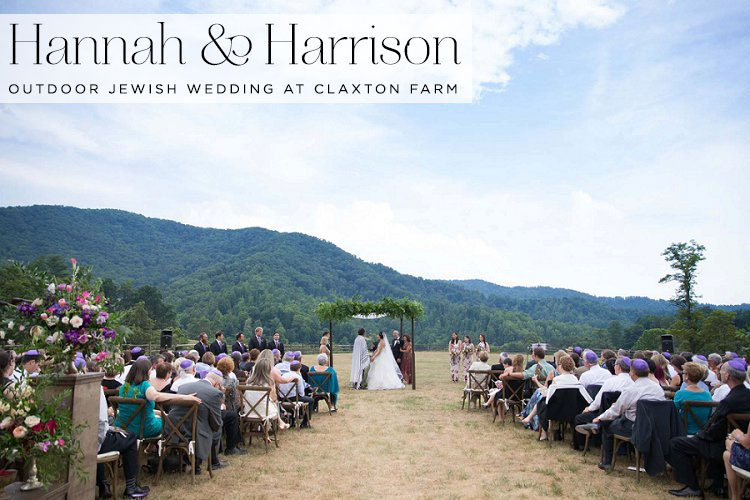 Outdoor-Jewish-wedding-at-Claxton-Farm,-Weaverville,-North-Carolina,-USA