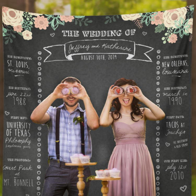 Wedding Photo Booth Backdrop: 8 Ways To Entertain Your Wedding Guests With Personalized
