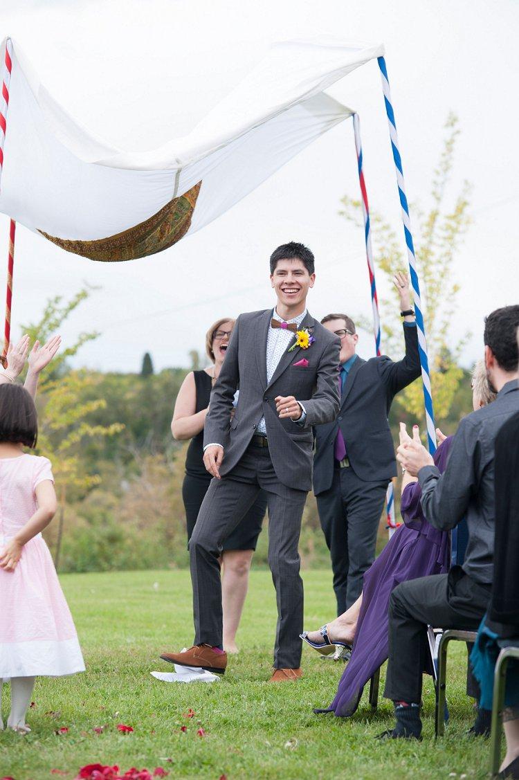 Jewish Nature themed wedding Riverdale Community Hall Edmonton Canada_0068