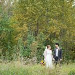 Nature-themed Jewish wedding at Riverdale Community Hall, Edmonton, Canada