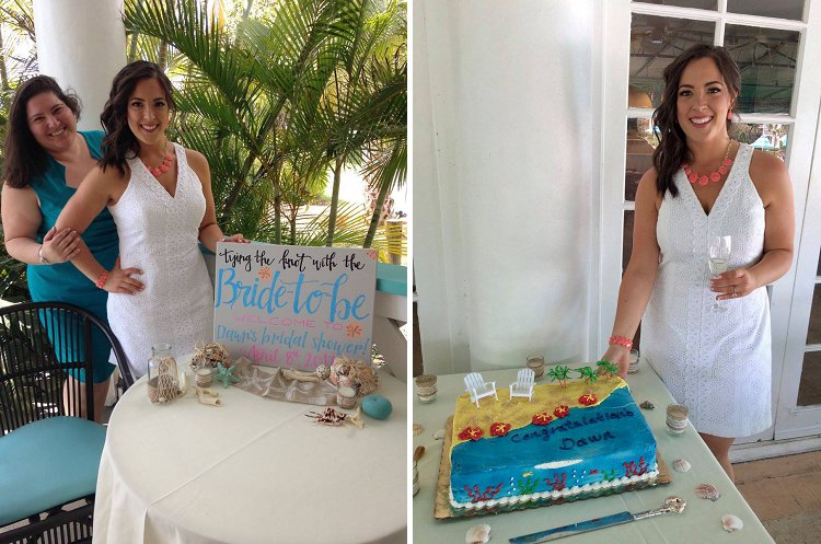d0cede6f69c My Bridal Shower had a beach theme and was an outdoor event at the Jupiter  Beach House Island Bistro and Tiki Bar. Everything was beautifully  decorated ...